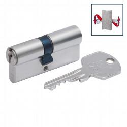 Profilzylinder inkl. Aufbohrschutz 30-30 mit N&G, verschiedenschließend u. 5 Schlüsseln